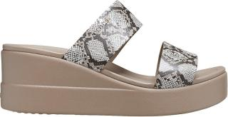 Crocs Dámské pantofle Crocs Brooklyn Mid Wedge W Multi/Stucco 206219-93T 41-42 dámské