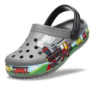 Crocs Kids Fun Lab Train Band Clog Slate Grey 21-22 21-22