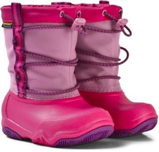Crocs Kids Swiftwater Waterproof Boot Party Pink/Candy Pink 24-25 dámské 24-25