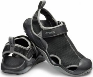Crocs Mens Swiftwater Mesh Deck Sandal Black 46-47 pánské 46-47