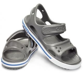 Crocs Preschool Crocband II Sandal Slate Grey/Blue Jean 30-31 30-31