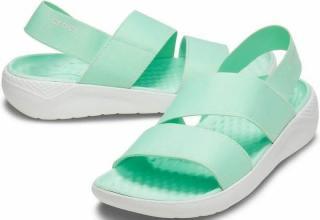 Crocs Womens LiteRide Stretch Sandal Neo Mint/Almost White 39-40 dámské Green 39-40