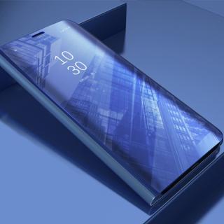 Cu-Be Clear View flipové pouzdro Huawei Y7 2019 blue