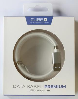 CUBE1 premium datový kabel USB>microUSB 1m white