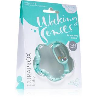 Curaprox Baby Waking Senses kousací kroužek s masážním kartáčkem a chrastítkem