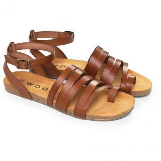 Dámské sandály Aesta Fuscus hnědá 42