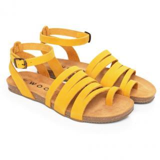 Dámské sandály Aesta Lutea žlutá 38