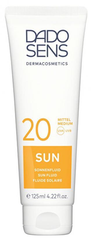 DADO SENS Opalovací fluid proti slunečním alergiím SPF 20 Sun 125 ml