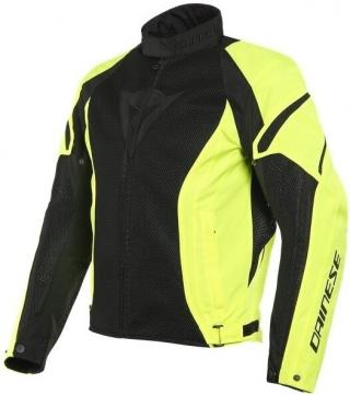 Dainese Air Crono 2 Tex Jacket Black/Fluo Yellow/Fluo Yellow 56 pánské 56