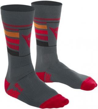 Dainese HG Hallerbos Socks Dark Gray/Red L pánské Grey 43
