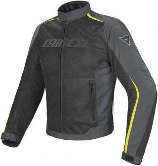 Dainese Hydra Flux D-Dry Jacket Black/Dark Gull Gray/Fluo Yellow 56 pánské 56