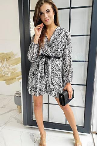 DALIA black and white dress EY1044 dámské Neurčeno One size