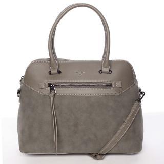Dámská elegantní hladká khaki kabelka - David Jones Pernella dámské