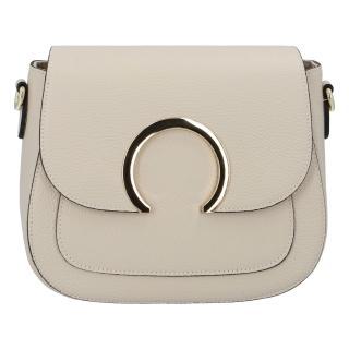 Dámská kožená crossbody kabelka béžová - ItalY Pretty dámské