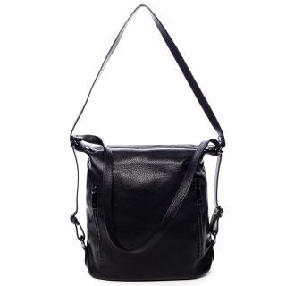 Dámská kožená kabelka batoh černá - ItalY Nadine dámské