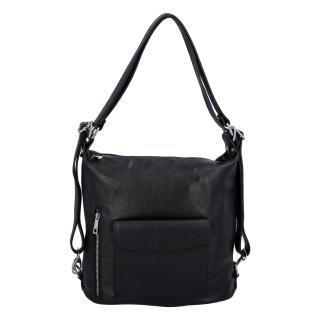 Dámská kožená kabelka batoh černá - ItalY Singa dámské