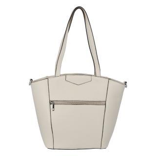 Dámská kožená kabelka přes rameno béžová - ItalY Zhoushan dámské