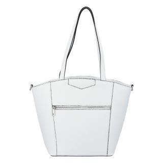 Dámská kožená kabelka přes rameno bílá - ItalY Zhoushan dámské