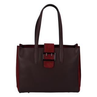 Dámská kožená kabelka přes rameno bordo - ItalY Driada dámské