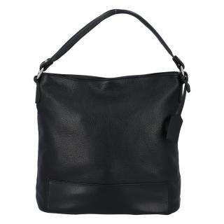 Dámská kožená kabelka přes rameno černá - ItalY Roterry dámské