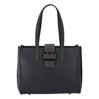 Dámská kožená kabelka přes rameno tmavě šedá - ItalY Driada dámské