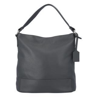 Dámská kožená kabelka přes rameno tmavě šedá - ItalY Roterry dámské