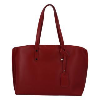 Dámská kožená kabelka tmavě červená - ItalY Jordana Two dámské