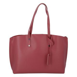 Dámská kožená kabelka tmavě růžová - ItalY Jordana Two dámské
