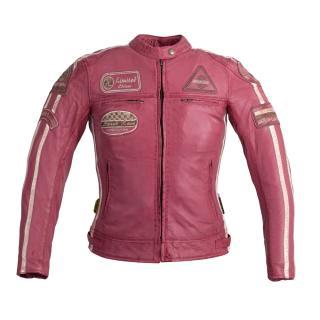 Dámská Kožená Moto Bunda W-Tec Sheawen Lady Pink  Růžová  Xs XS