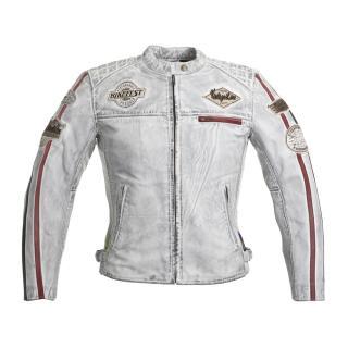 Dámská Kožená Moto Bunda W-Tec Sheawen Lady White  Bílá  Xs XS