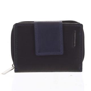 Dámská kožená peněženka černo modrá - Bellugio Eurusie dámské