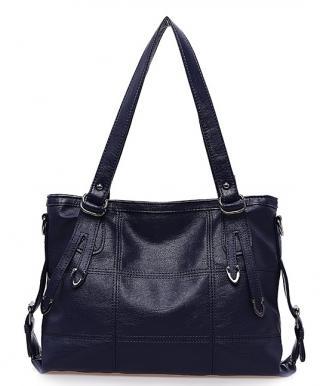Dámská kožená taška na rameno Barva: modrá
