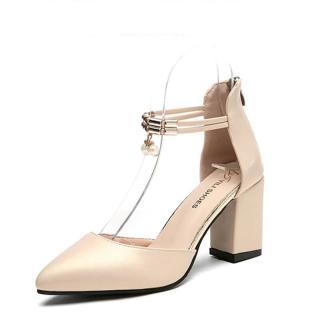Dámské boty na podpatku Jesila - béžové