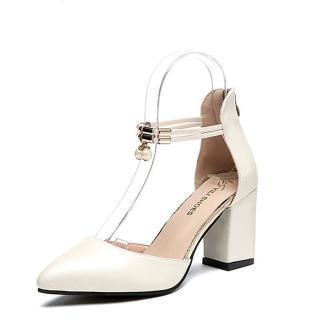 Dámské boty na podpatku Jesila - bílé