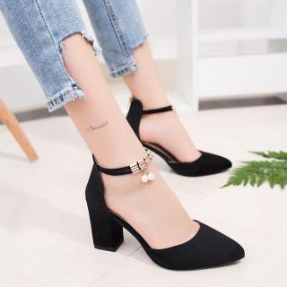 Dámské boty na podpatku Jesila - černé