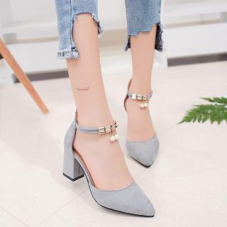 Dámské boty na podpatku Jesila - šedé