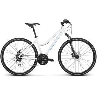 Dámské Crossové Kolo Kross Evado 4.0 28 - Model 2021  Bílo-Modrá