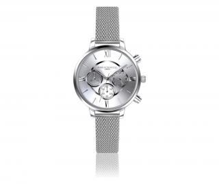 Dámské hodinky Ivy Chronograph Šedá & Stříbrná