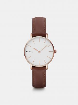 Dámské hodinky s hnědým koženým páskem Millner Mini dámské hnědá