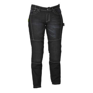 Dámské jeansy na motorku W-TEC Theo  černá  20/XXL 20/XXL