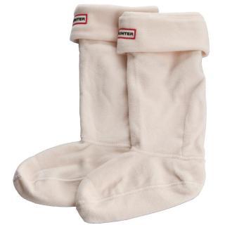 Dámské klasické ponožky HUNTER - Boot Socks UAS3000AAA YI 2814 CRM Bílá 36/38