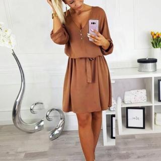 Dámské košilové šaty Markiny - hnědé