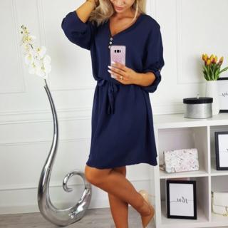 Dámské košilové šaty Markiny - modré