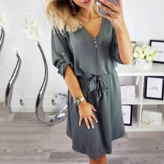 Dámské košilové šaty Markiny - šedé