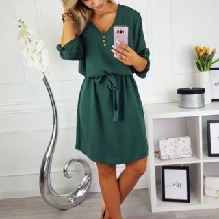 Dámské košilové šaty Markiny - zelené