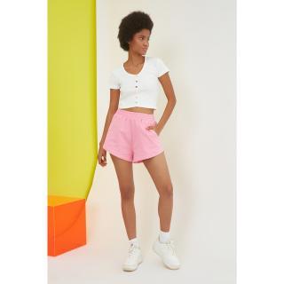 Dámské kraťasy Trendyol Bermuda dámské Pink M
