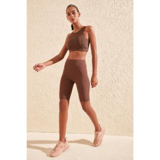Dámské kraťasy Trendyol Biker shorts dámské Brown M