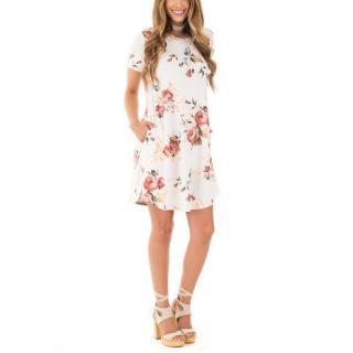 Dámské krátké šaty Amarett - bílé
