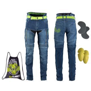 Dámské Moto Jeansy W-Tec Ekscita  Modrá  27 27