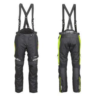 Dámské Moto Kalhoty W-Tec Spirital Lady  Černá-Fluo Žlutá  Xs XS